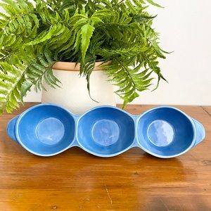 HOME Blue Ceramic Appetizer Olive Nut Chee…